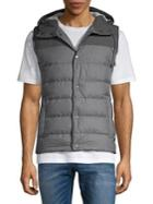 Black Brown Quilted Puffer Vest