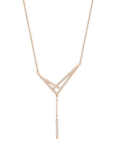Swarovski Rose Goldplated Chain Necklace