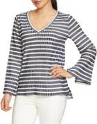 Chaus Striped Knit Top