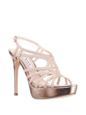 Nina Solina Glitter Platform Sandals
