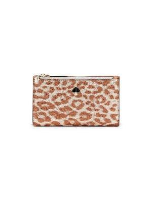 Kate Spade New York Leopard-print Leather Wallet