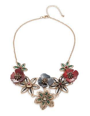 Robert Rose Floral Statement Necklace