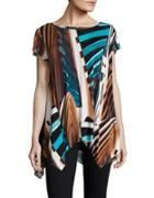 Rafaella Printed Knit Top