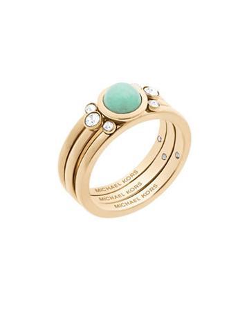 Michael Kors Easy Opulence Mountain Jade & Crystal Ring