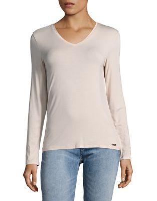 Calvin Klein V-neck Jersey Top