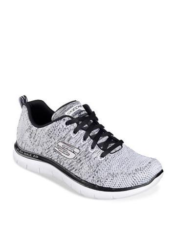 Skechers Flex Appeal Knit Lace-up Sneakers
