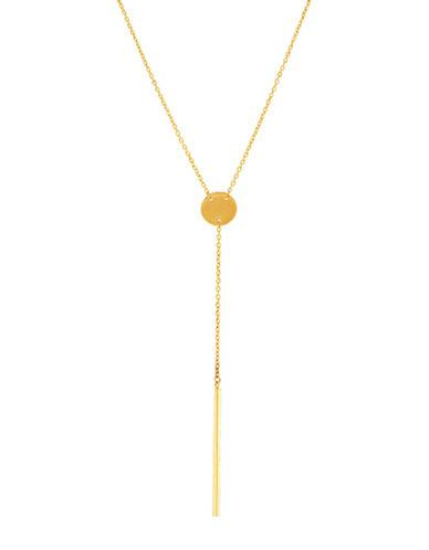 Lord & Taylor 14k Yellow Gold Y-necklace