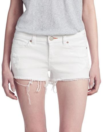 Dittos Frayed Cuff Denim Shorts
