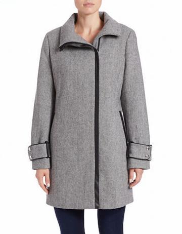 Calvin Klein Asymmetrical Zip-front Coat