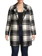 Calvin Klein Plus Windowpane Coat
