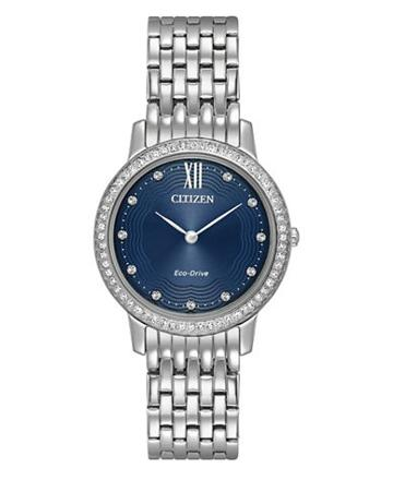 Citizen Eco-drive Swarovski Crystal & Stainless Steel Watch