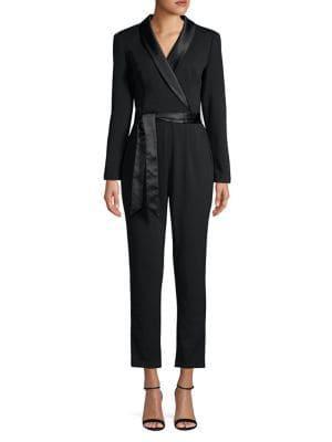 Adrianna Papell Modern Long-sleeve Jumpsuit