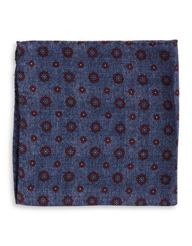 Black Brown Floral Dot Pocket Square