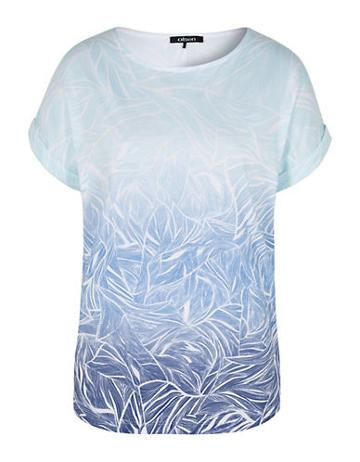 Olsen Abstract Print Ombre Tee