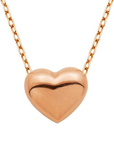 Lord & Taylor Puffed Heart Pendant Necklace
