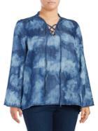 Melissa Mccarthy Seven7 Plus Lace-front Top