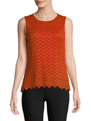 Calvin Klein Chevron Lace Knit Top