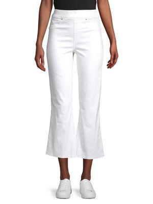 Spanx High-rise Cotton Blend Cropped Pants