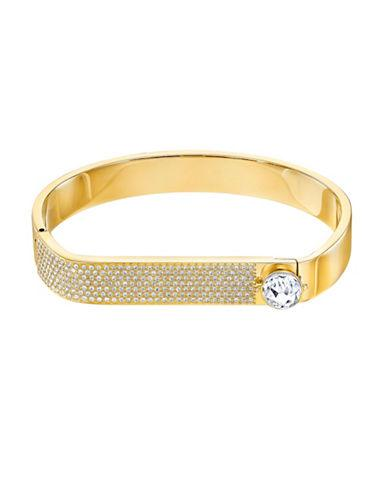 Swarovski Crystal & Gold Hinged Bangle