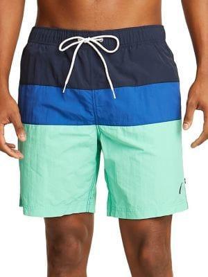 Nautica Colorblock Drawstring Swim Shorts