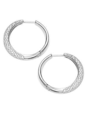 Nadri Crystal Bombay Huggie Earrings 1
