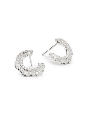 Nadri Corsage Wrap Hoop Earrings