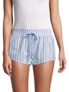 Pj Salvage Striped Cotton Shorts