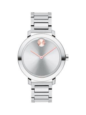 Movado Bold Ion-plated Stainless Steel Bracelet Watch