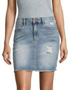 Buffalo David Bitton Ivy Distressed Denim Skirt