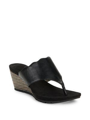Bandolino Sarita Leather Wedge Heel