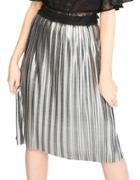 Miss Selfridge Foil Pleated Skirt