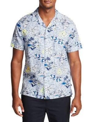 Nautica Short Sleeve Tropical Flower Shirt