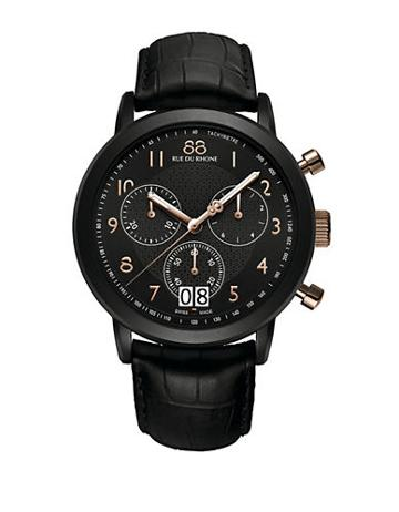 88 Rue Du Rhone Menâs Chronograph Watch With Leather Strap