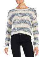Design Lab Lord & Taylor Cropped Eyelash Knit Sweater