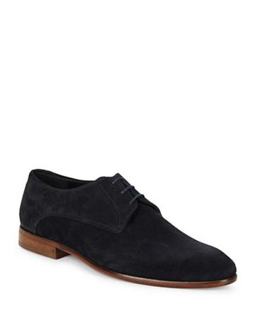 Hugo Boss Suede Lace-up Oxfords
