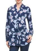 Lord & Taylor Floral-print Button-down Shirt