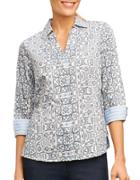 Foxcroft Abstract Printed Top