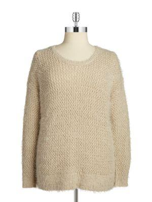 Dknyc Plus Open-knit Sweater