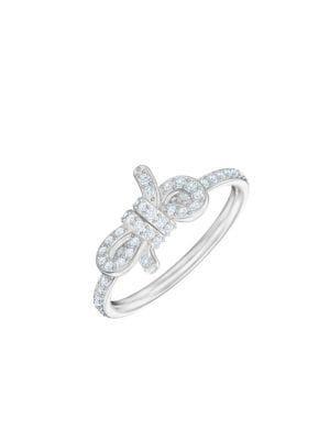 Lifelong Bow Swarovski Crystal Statement Ring