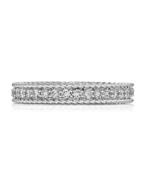 Roberto Coin Symphony Diamond & 18k White Gold Ring