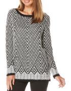 Rafaella Oversized Jacquard Pullover