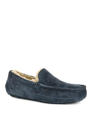 Ugg Ascot Suede And Shearling Slippers
