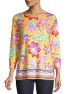Joseph A Floral Roundneck Pullover