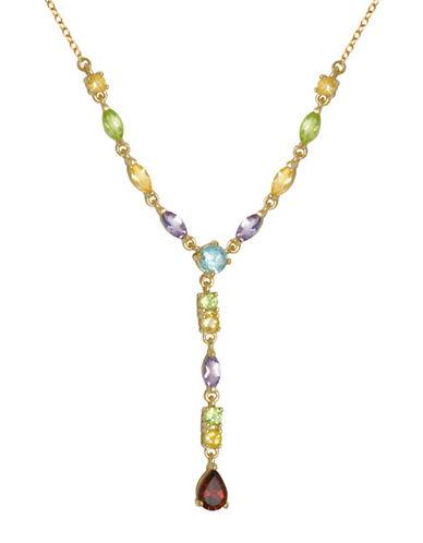 Lord & Taylor 18k Yellow Goldplated Multi-stone Y Necklace