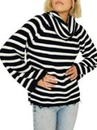 Sanctuary Striped Jagger Cowlneck Sweater