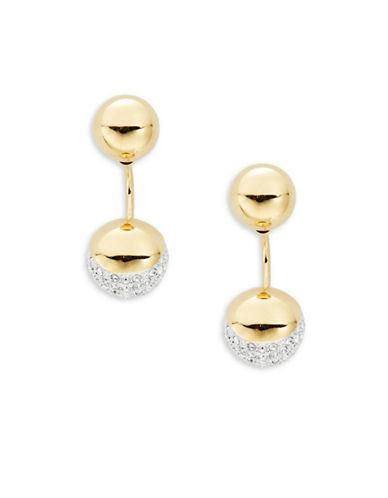 Nadri Crystal Front Back Earrings