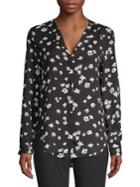 Lord & Taylor Petite Floral Long Sleeve Blouse