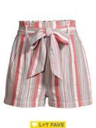 Design Lab Striped Tie-bow Shorts