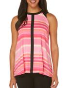 Rafaella Sleeveless Striped Top