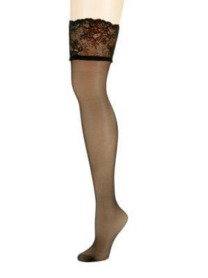 Donna Karan Sheer Thigh Highs Nylons